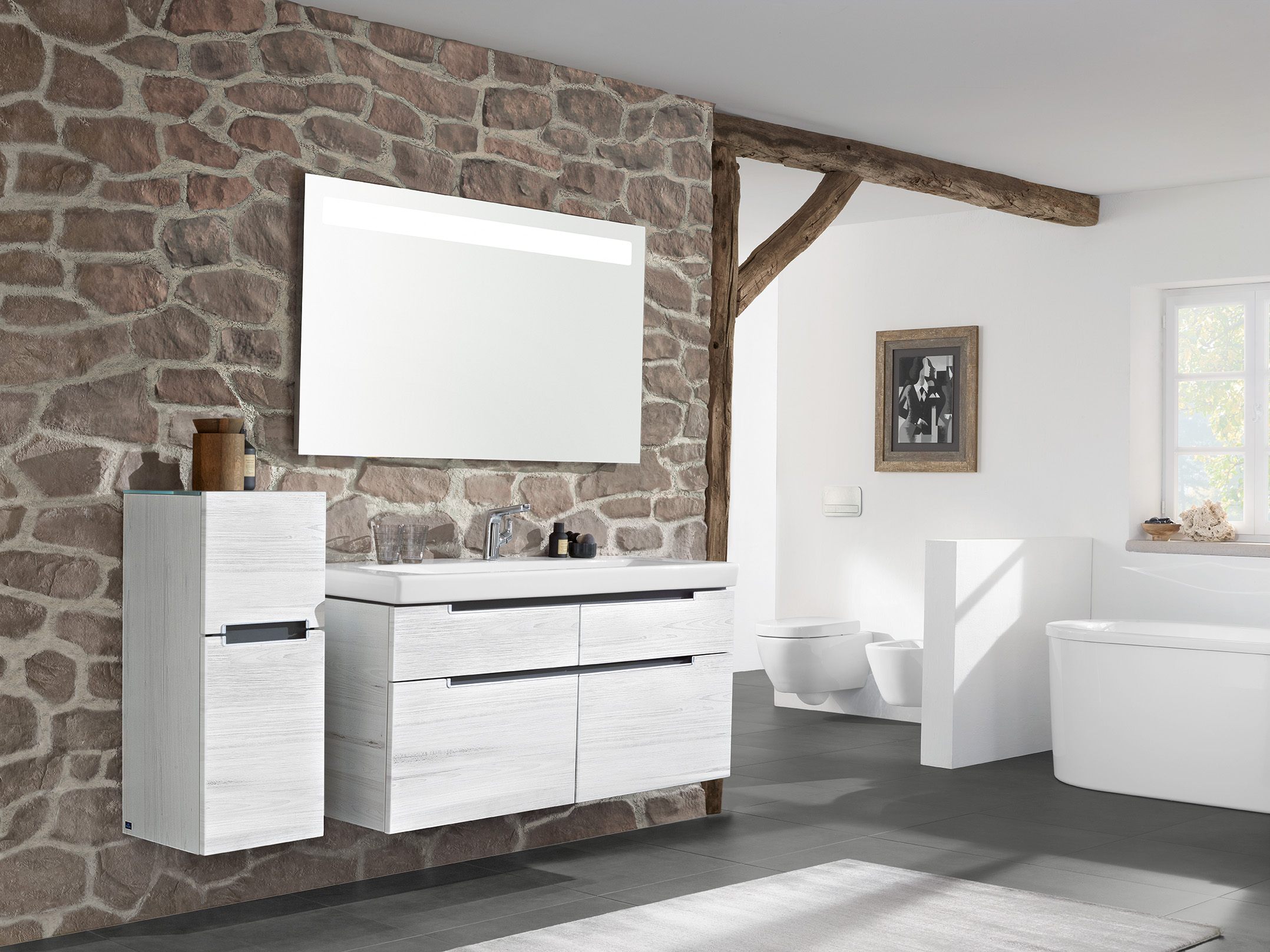 rustikal modernes bad mit charme badideen im online shop xtwostore. Black Bedroom Furniture Sets. Home Design Ideas